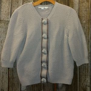 Boden honeycomb weave cardigan sweater